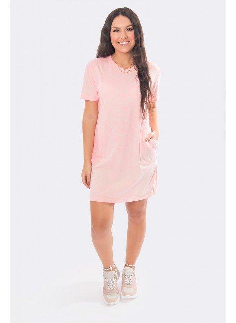vestido camisetao estonado rosa 20319 5