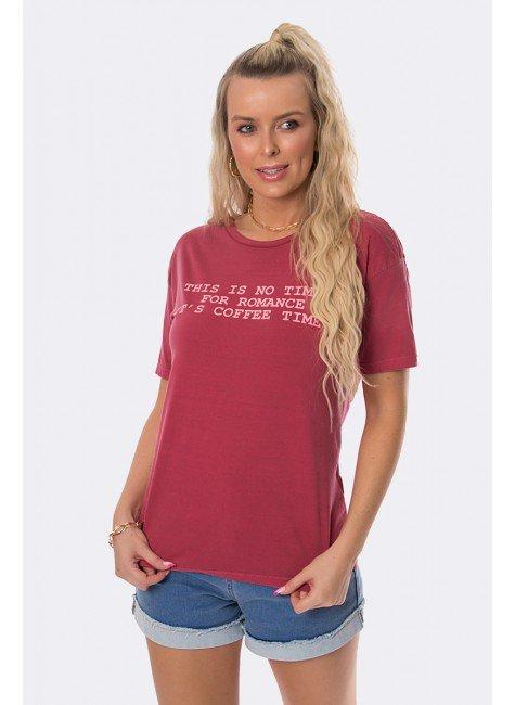 camiseta estonada coffe time vermelha 20384 5