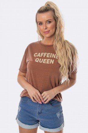 camiseta caffeine queen estonada marrom 20377 4