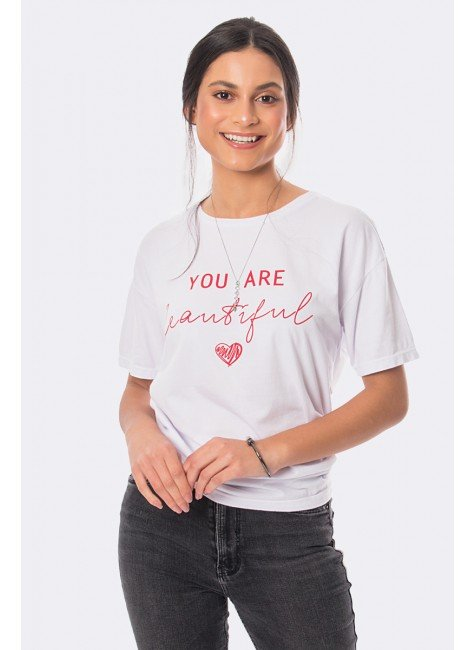 camiseta you are beautiful reativo branco 20381 4