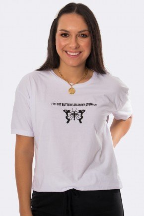 camiseta butterflies in my stomach branco 20387 11