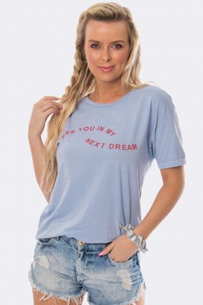 camiseta estonada see you in my dream azul 20382 4