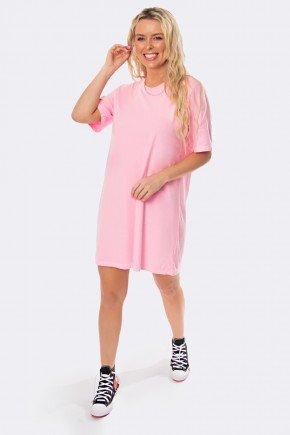 vestido camisetao estonado rosa 20319 3