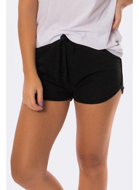 shorts em moletinho com detalhe em cadarco preto 20306 2