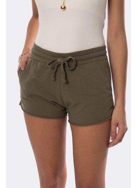shorts de moletinho verde militar 20312 1