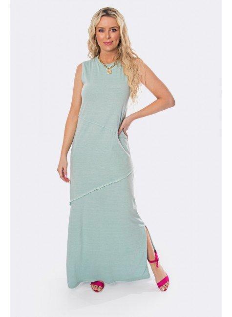 vestido longo estonado com recorte e fendas laterais 20324 1