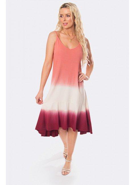 vestido midi de alca tie dye tie dye rosa 20326 1