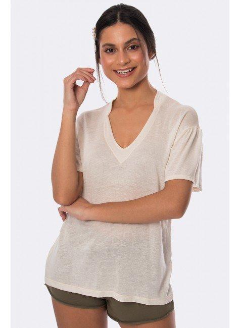 blusa em linho decote v natural 20339 2