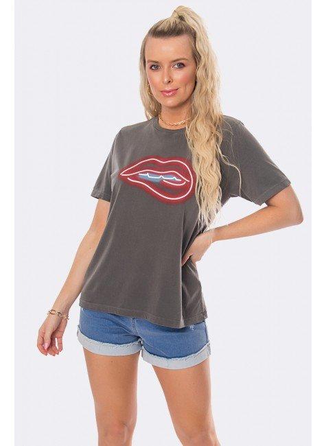 camiseta feminina estonada boca em relevo chumbo 20360 1