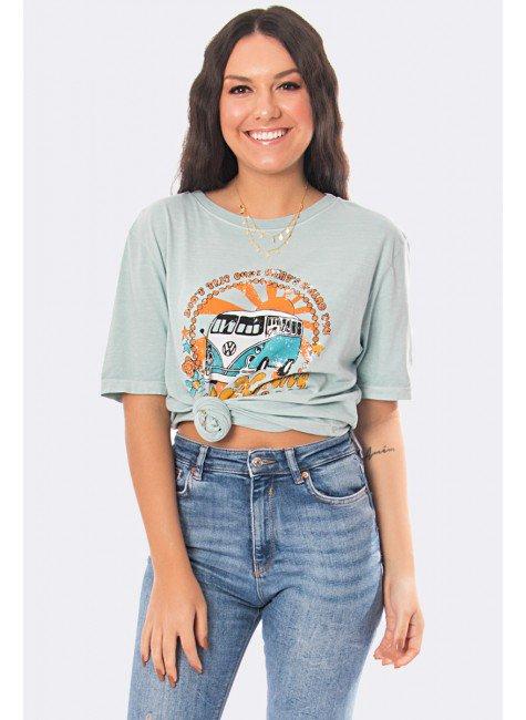 camiseta feminina estonada kombi verde 20390 4