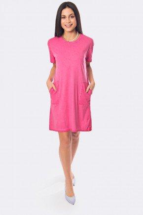 vestito com bolso frente cor rosa 20332 1